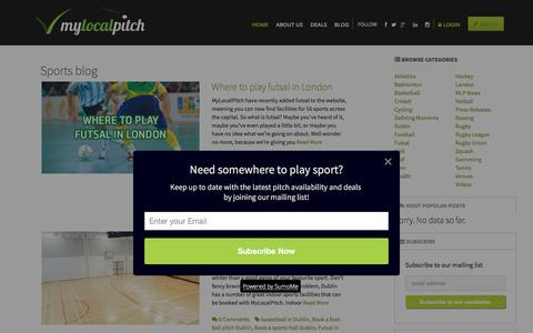 Screenshot of Blog mylocalpitch.com - MyLocalPitch blog - captured Nov. 30, 2016