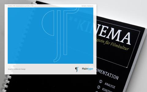 Screenshot of Home Page plaintype.com - Plaintype - Graphic & Editorial Design - captured Sept. 30, 2014
