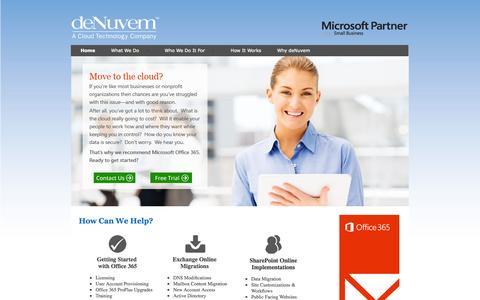 Screenshot of Home Page denuvem.com - deNuvem - captured Sept. 30, 2014