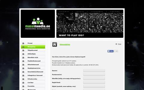 Screenshot of Contact Page masskampaaniad.net - Massimeedia — Turunduse peatöövõtt ja projektijuhtimine. - captured Feb. 12, 2016