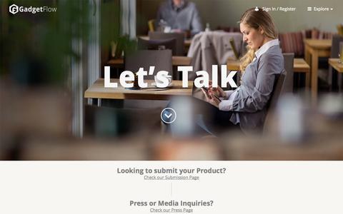Screenshot of Contact Page thegadgetflow.com - Contact | The Gadget Flow - captured Sept. 18, 2014