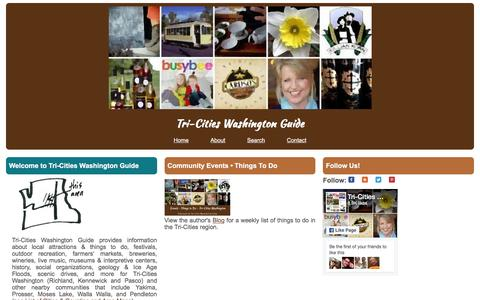 Screenshot of Home Page tri-citiesguide.org - Tri-Cities Washington Guide - captured June 16, 2016