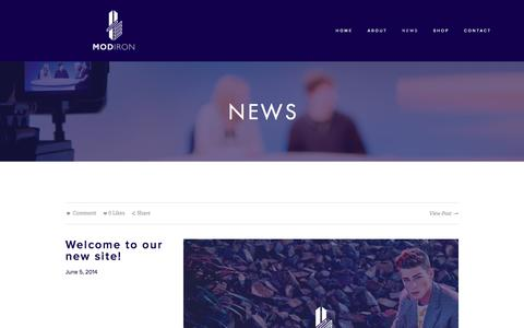 Screenshot of Press Page modiron.com - News — Modiron - captured Oct. 6, 2014