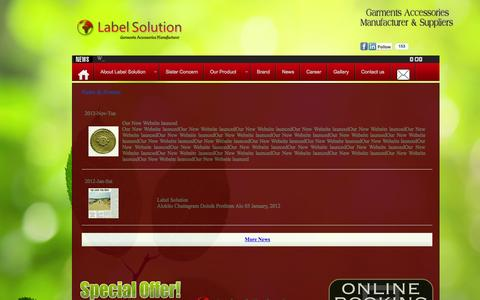 Screenshot of Press Page labelsolutionbd.com - Label Solutions BD - captured Oct. 1, 2014