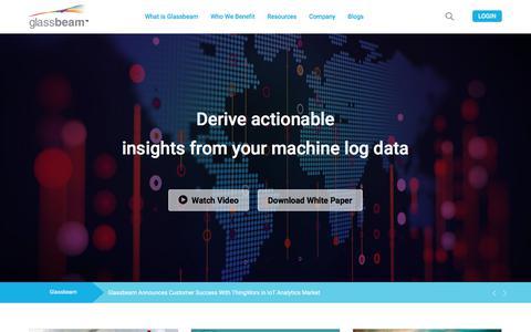 Screenshot of Testimonials Page glassbeam.com - Machine Log Data Analytics - Big Data analytics Platform - captured April 24, 2018