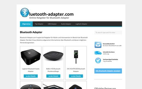 Screenshot of Home Page bluetooth-adapter.com - | Bluetooth Adapter | bluetooth-adapter.com - captured Sept. 25, 2014