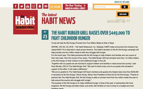 Screenshot of Press Page habitburger.com - The latest Habit News | Habit Burger - captured Nov. 8, 2018