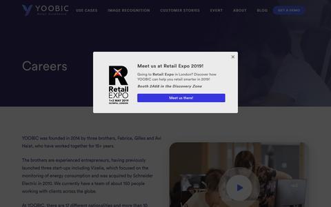 Screenshot of Jobs Page yoobic.com - Careers - YOOBIC - captured April 3, 2019