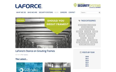 Screenshot of Blog laforceinc.com - LaForce | Blog | Commercial Door Hardware | Careers | LaForce Inc. - captured Sept. 19, 2018