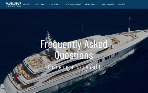 Screenshot of FAQ Page mutluturyachting.com captured July 26, 2018