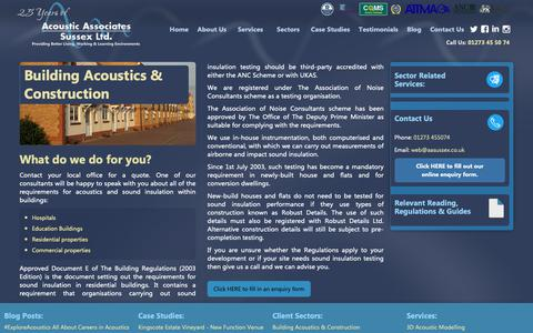 Screenshot of Developers Page aasussex.co.uk - Acoustic Services | Building Acoustics & Construction Client Sector | Acoustic Associates Sussex Ltd. - captured Oct. 3, 2018