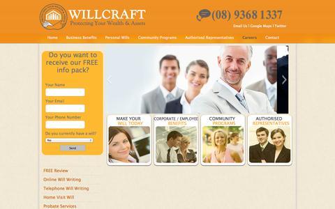 Screenshot of Jobs Page willcraft.com.au - Careers | WillCraftWillCraft - captured Oct. 9, 2014