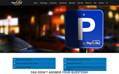 Screenshot of FAQ Page paybysky.com - PayBySky |   FAQ - captured July 19, 2014