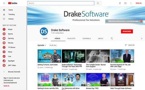 Drake Software - YouTube - YouTube