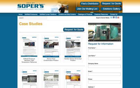 Screenshot of Case Studies Page sopers.com - Case Studies | Sopers - captured Oct. 6, 2014