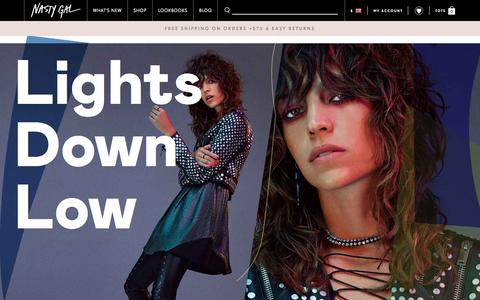 Screenshot of Home Page nastygal.com - Nasty Gals Do It Better. Shop Clothing, Shoes & Vintage | Nasty Gal - captured Oct. 1, 2015