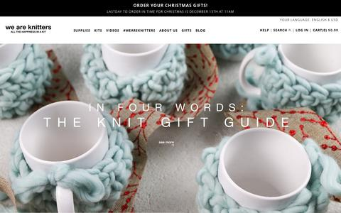 Screenshot of Home Page weareknitters.com - Buy Wool, Needles, Yarn, Other Knitting - captured Dec. 15, 2015