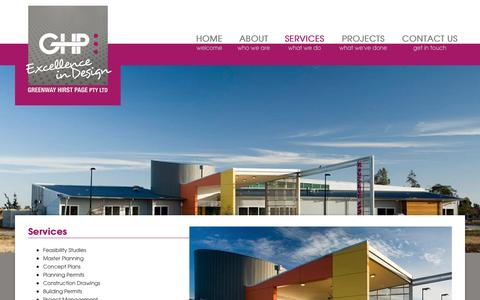 Screenshot of Services Page ghp.biz - Services | Greenway Hirst Page - captured Nov. 16, 2016