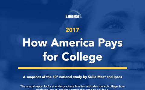 Screenshot of salliemae.com - How America Pays for College | Sallie Mae - captured July 22, 2017