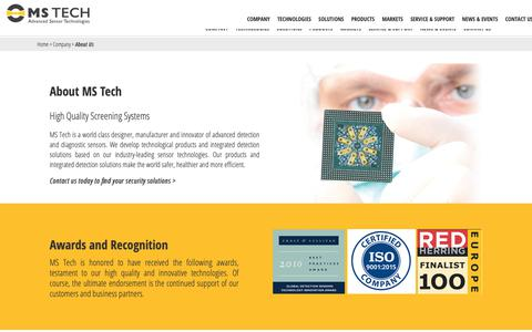 Screenshot of About Page ms-technologies.com - About Us | MS Tech - captured Oct. 1, 2018