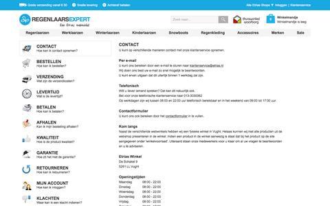 Screenshot of Privacy Page Contact Page regenlaarsexpert.nl - Veelgestelde Vragen | Regenlaarsexpert.nl - captured March 4, 2016