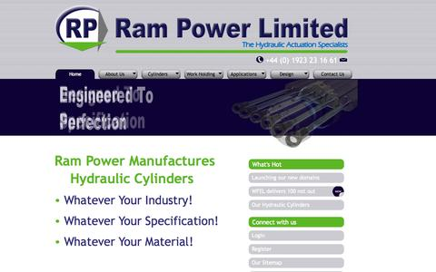 Screenshot of Home Page Privacy Page rampower.co.uk - Rampower: Hydraulic Cylinders | Hydraulic Rams - captured Oct. 7, 2014