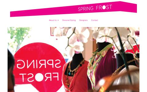 Screenshot of Home Page designerclearancehouse.com - SPRING FROST - captured Aug. 6, 2018