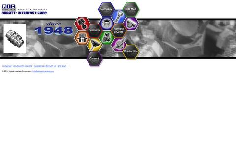 Screenshot of Contact Page Site Map Page abbott-interfast.com - Abbott-Interfast: Fasteners, Bolts, Nuts, Screws, Locknuts, etc. - captured Oct. 22, 2014