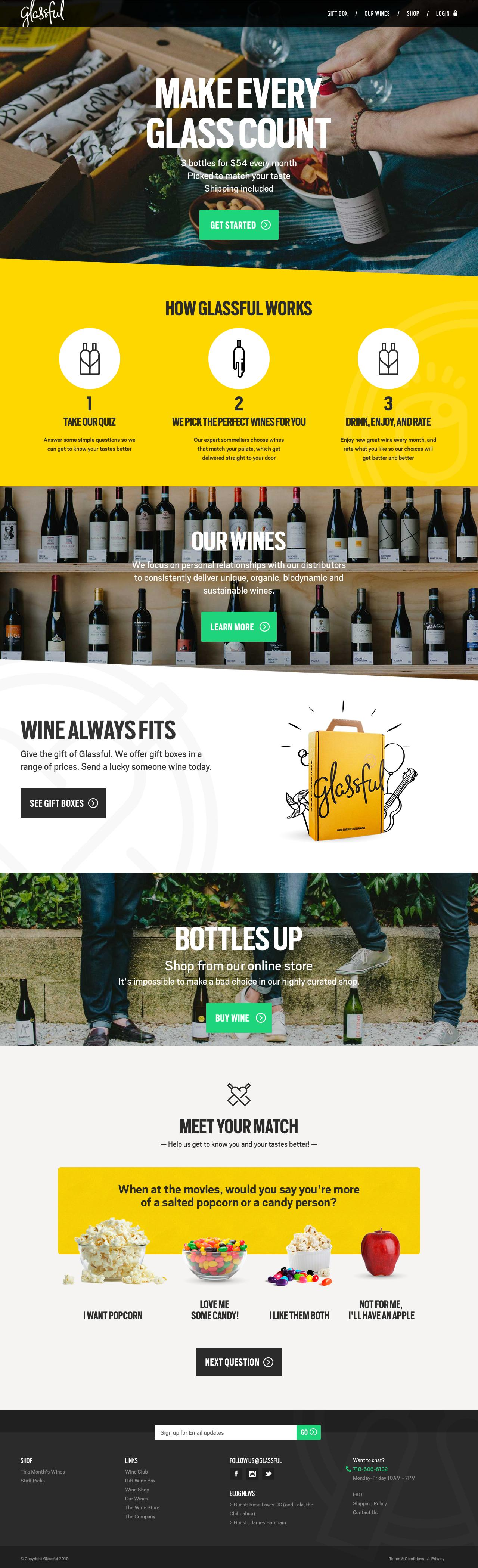 Screenshot of glassful.com - Glassful - Welcome to a new way to wine. - captured Dec. 1, 2015