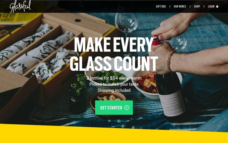 Screenshot Glassful - Welcome to a new way to wine.