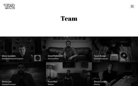 Screenshot of Team Page ta2music.com - Team - TA2 - captured Oct. 18, 2017