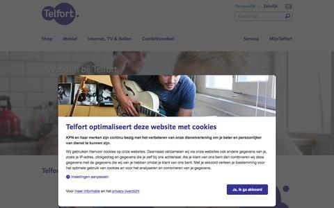 Screenshot of Home Page telfort.nl - Telfort: Internet, TV, Bellen, Alles-in-1 en mobiel met 4G! - captured Jan. 13, 2016