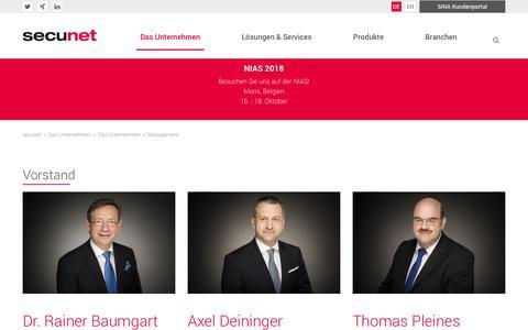 Screenshot of Team Page secunet.com - Management   secunet AG - captured Oct. 18, 2018