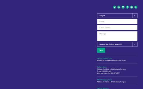 Screenshot of Press Page cellum.com captured Oct. 28, 2016