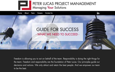 Screenshot of About Page peterlucas.ca - About   Peter Lucas Project Management - captured Sept. 27, 2018