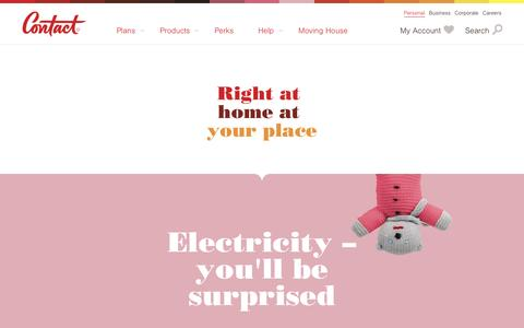 Screenshot of Products Page contact.co.nz - Contact Energy - Products - captured June 25, 2016