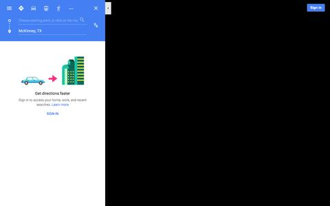 Screenshot of Maps & Directions Page google.com - Google Maps - captured Jan. 15, 2016