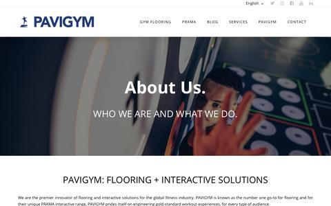 Screenshot of About Page pavigym.com - ABOUT US - PAVIGYM GYM Flooring Solutions - captured Nov. 20, 2018