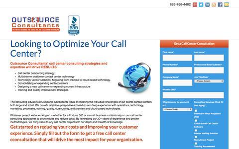 Screenshot of Landing Page outsource-consultants.com - Outsource Consultants - Free Consultation - captured Aug. 25, 2016