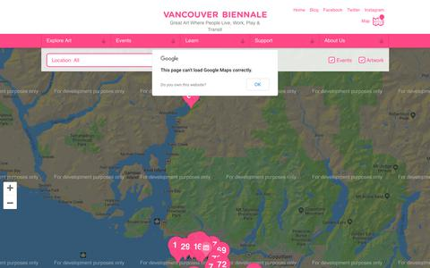 Screenshot of Maps & Directions Page vancouverbiennale.com - Exhibition Map   Vancouver Biennale - captured Sept. 20, 2018