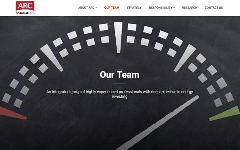 Screenshot of Team Page arcfinancial.com - Our Team | ARC Financial Corporation - captured July 7, 2018