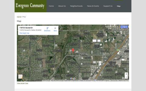 Screenshot of Maps & Directions Page ecojc.org - Map   ECOJC - captured Jan. 31, 2016