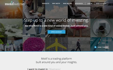Motif Investing - Online Brokerage & Investment Ideas