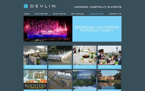 Screenshot of Case Studies Page devlinconsulting.co.uk - Case Studies   Devlin - Catering, Hospitality & Events - captured Sept. 30, 2014