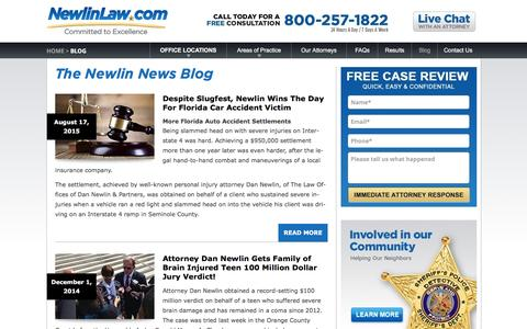 The Newlin News - Attorney Dan Newlin - Recovered Millions!