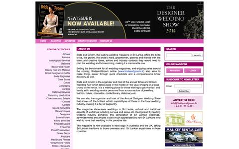 Screenshot of About Page brideandgroom.lk - Sri Lankan Wedding Magazine Bride and Groom Wedding Magazine  | About Us - captured Oct. 5, 2014