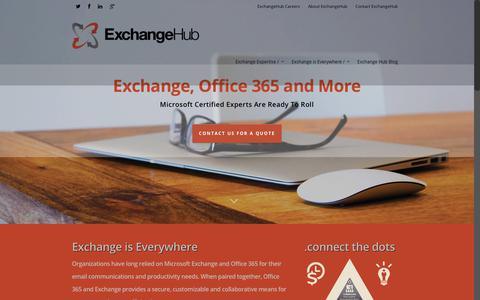 Screenshot of Home Page exchangehub.com - ExchangeHub - captured July 22, 2018