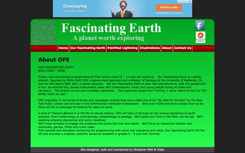 Screenshot of About Page fascinatingearth.com - About OFE | Our Fascinating Earth - captured May 14, 2016