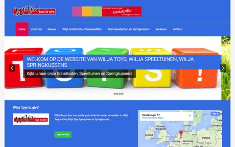 Screenshot of Home Page wiljatoys.nl - Wilja 'toys to give' - captured Jan. 26, 2015