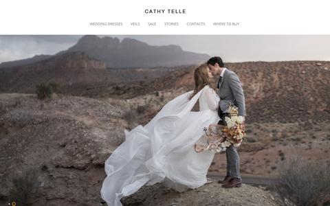 Screenshot of Home Page cathytelle.com - Wedding Dresses | Cathy Telle - captured July 16, 2018